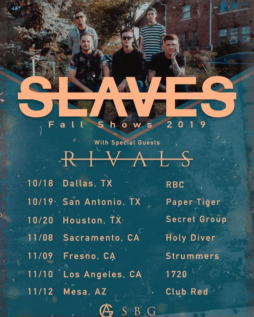 Rivals Fall Tour 2019 with Slaves