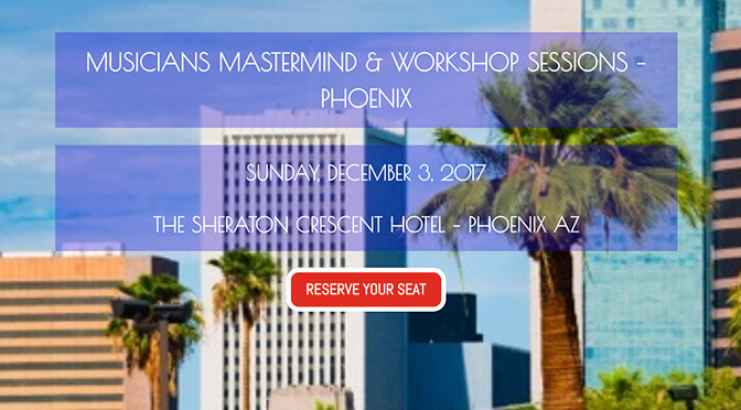 Musicians Mastermind & Workshop Sessions – Phoenix – Interview with Host, Ricardo Luis Cañez