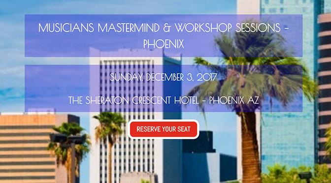 Musicians Mastermind & Workshop Sessions – Phoenix – Interview with Host, Ricardo Luis Cañez