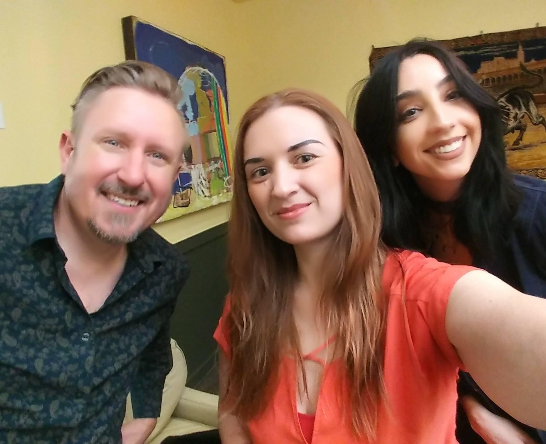 Jim Hesterman, Katherine Amy Vega, and Mckayla Hull