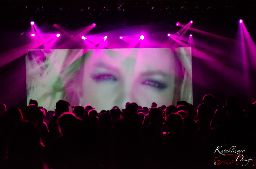 Britney Spears playing on screen - Photo credit: Katherine Amy Vega