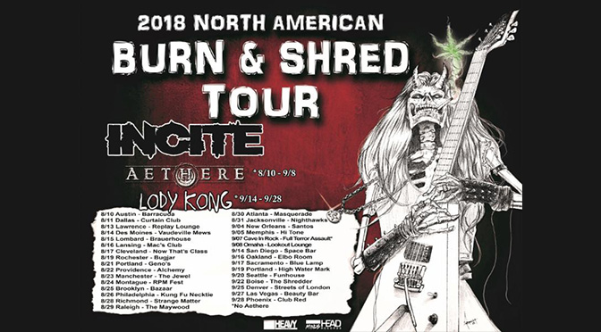 Incite - Burn & Shred Tour Dates