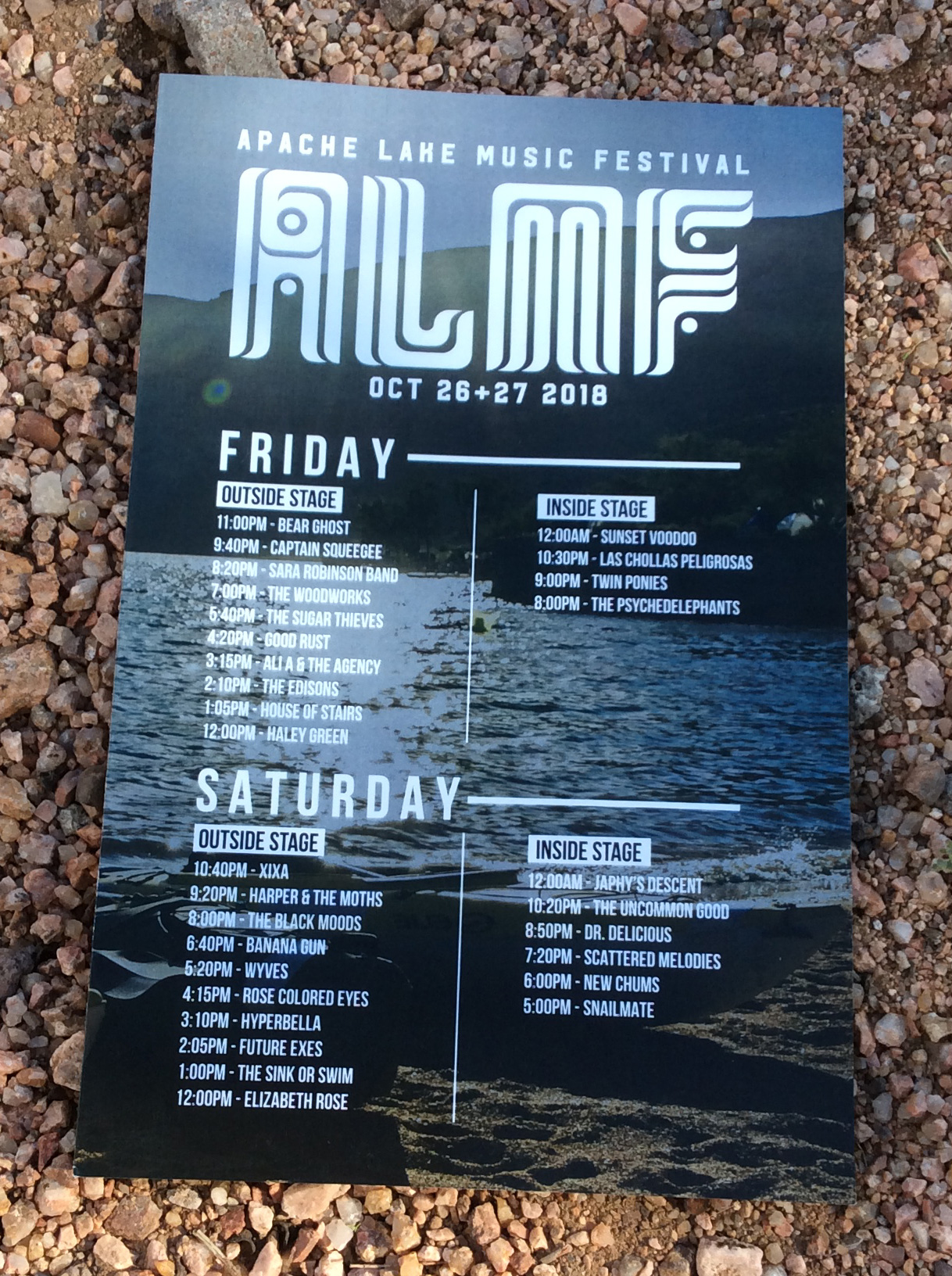 Apache Lake Music Festival 2018 Poster - Photo Credit: Nick Gonzaga