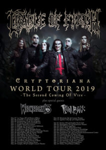 Cradle of Filth 2019 World Tour