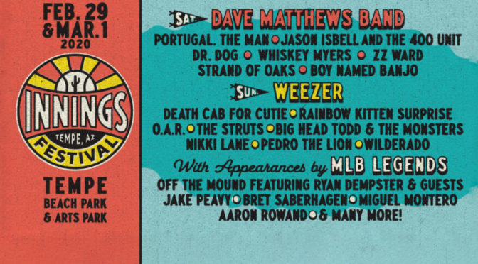 Dave Matthews Band And Weezer To Headline Third Annual Innings Festival