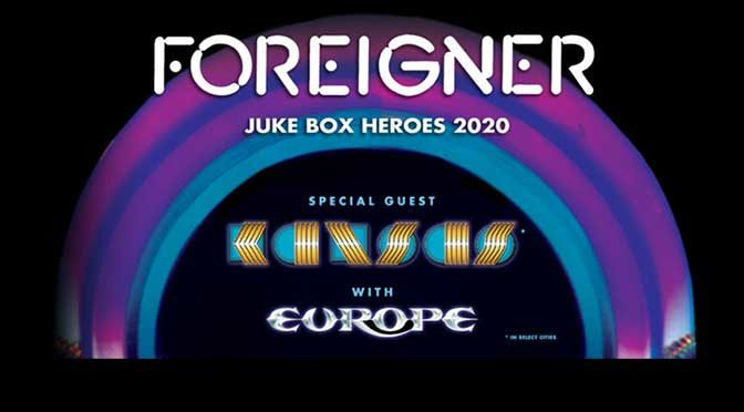 Foreigner, Kansas, and Europe Set To Launch Juke Box Heroes 2020 Tour
