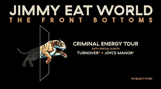 Jimmy Eat World Announce Criminal Energy Tour with The Front Bottoms, Turnover and Joyce Manor