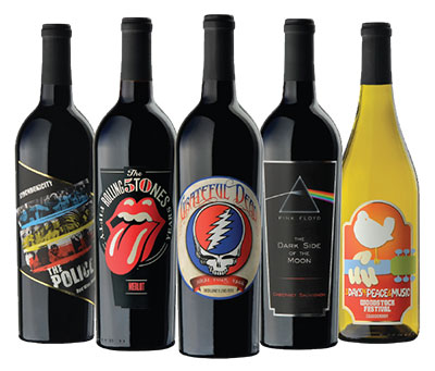 Bottles of wine from Wines that Rock